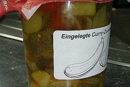 Eingelegte Curry - Zucchini 17