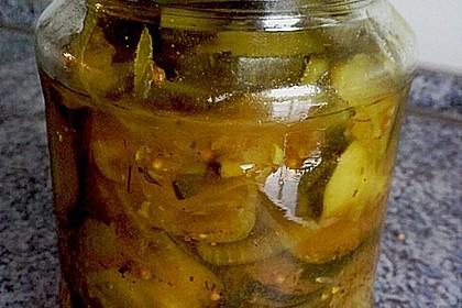 Eingelegte Curry - Zucchini 24