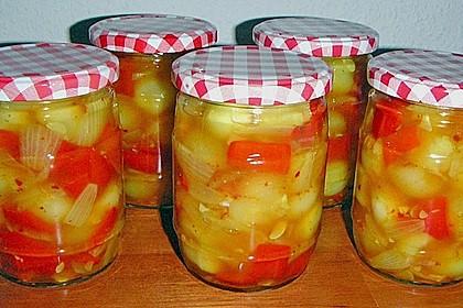 Eingelegte Curry - Zucchini 3