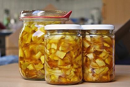 Eingelegte Curry - Zucchini 28