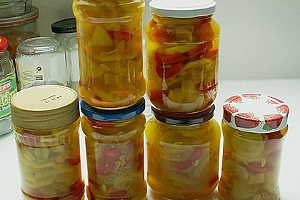 Eingelegte Curry - Zucchini 31