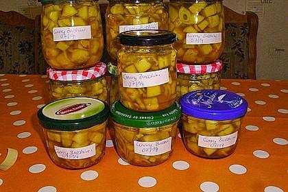 Eingelegte Curry - Zucchini 38
