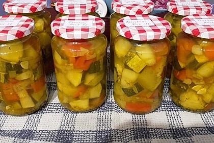 Eingelegte Curry - Zucchini 4