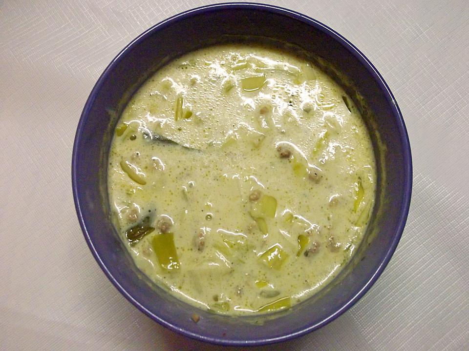 lauch käse suppe vegetarisch