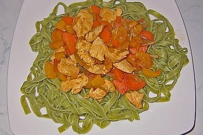 Scharfe Hähnchen - Spaghetti Pfanne