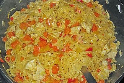 Scharfe Hähnchen - Spaghetti Pfanne 2