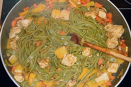 Scharfe Hähnchen - Spaghetti Pfanne 1