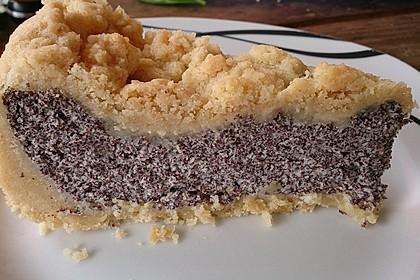 Mohnkuchen mit Quark und Streuseln 2