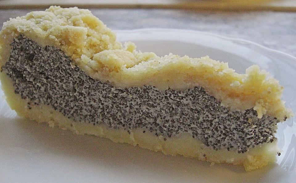 Mohnkuchen Mit Quark Und Streuseln Von Schraegervogel Chefkoch De