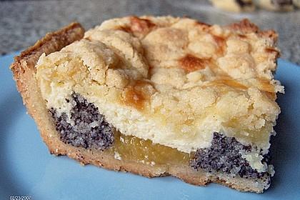 Mohnkuchen mit Quark und Streuseln 13