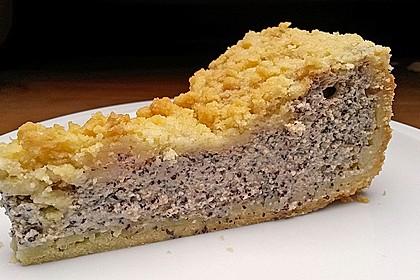 Mohnkuchen mit Quark und Streuseln 9