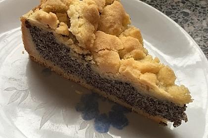 Mohnkuchen mit Quark und Streuseln 12