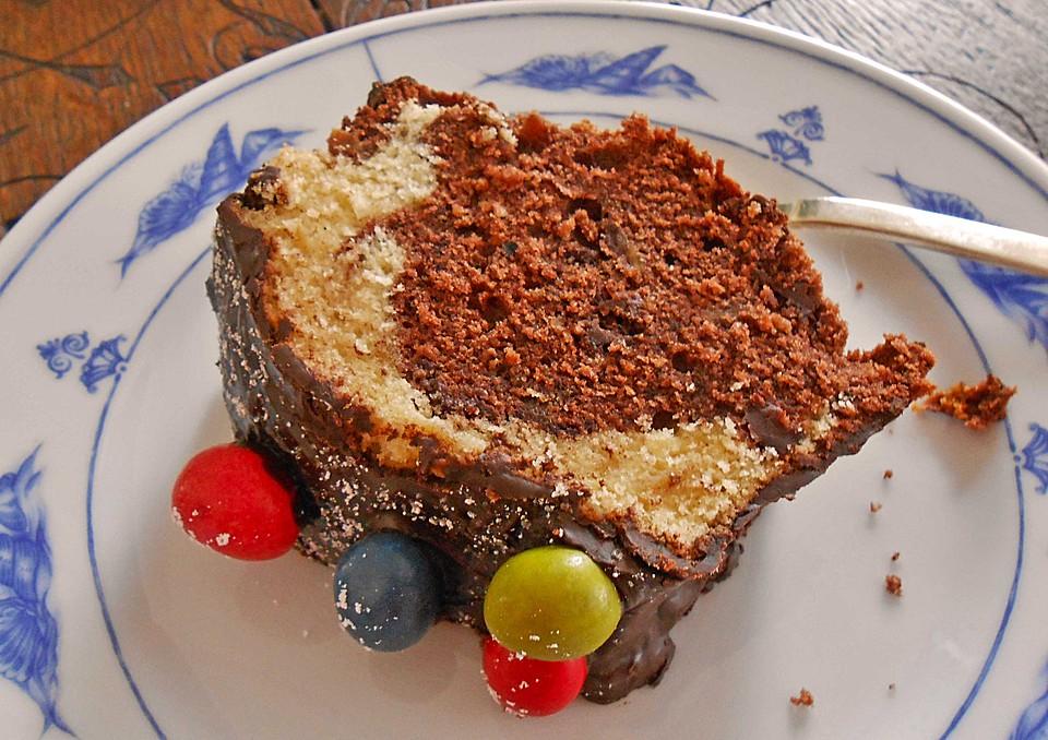 Ratz Fatz Marmorkuchen Mit Apfel Mandeln Und Schokolade Von
