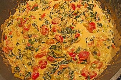 Pasta mit Bärlauch-Frischkäse-Soße und Cocktailtomaten 41