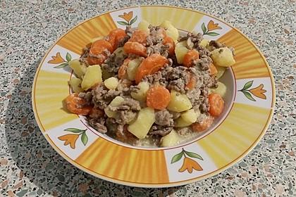 Kartoffel-Hackfleisch-Topf mit Schmand und Möhren 19