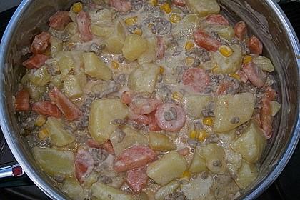 Kartoffel-Hackfleisch-Topf mit Schmand und Möhren 20