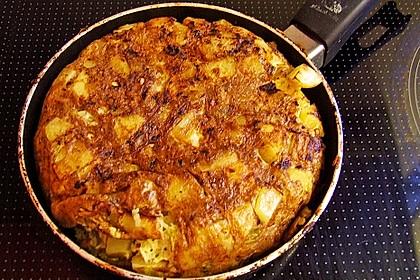 Traditionelle spanische Tortilla 33
