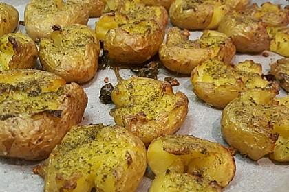 Quetschkartoffeln vom Backblech – Crushed Potatoes 9