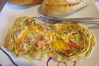 Rührei mit Tomaten und Käse 3