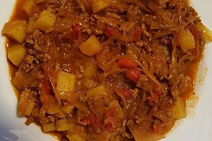 Hackfleisch-Kraut-Suppe 1