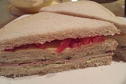 Honig Senf Creme & Schinken-Käse Sandwich 2