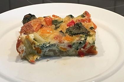 Mangold und geröstete Paprika-Frittata (Bild)
