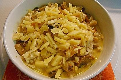 Kässpätzlesuppe mit Champignons 3