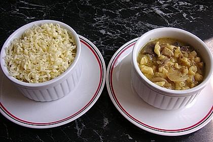 Kässpätzlesuppe mit Champignons 4
