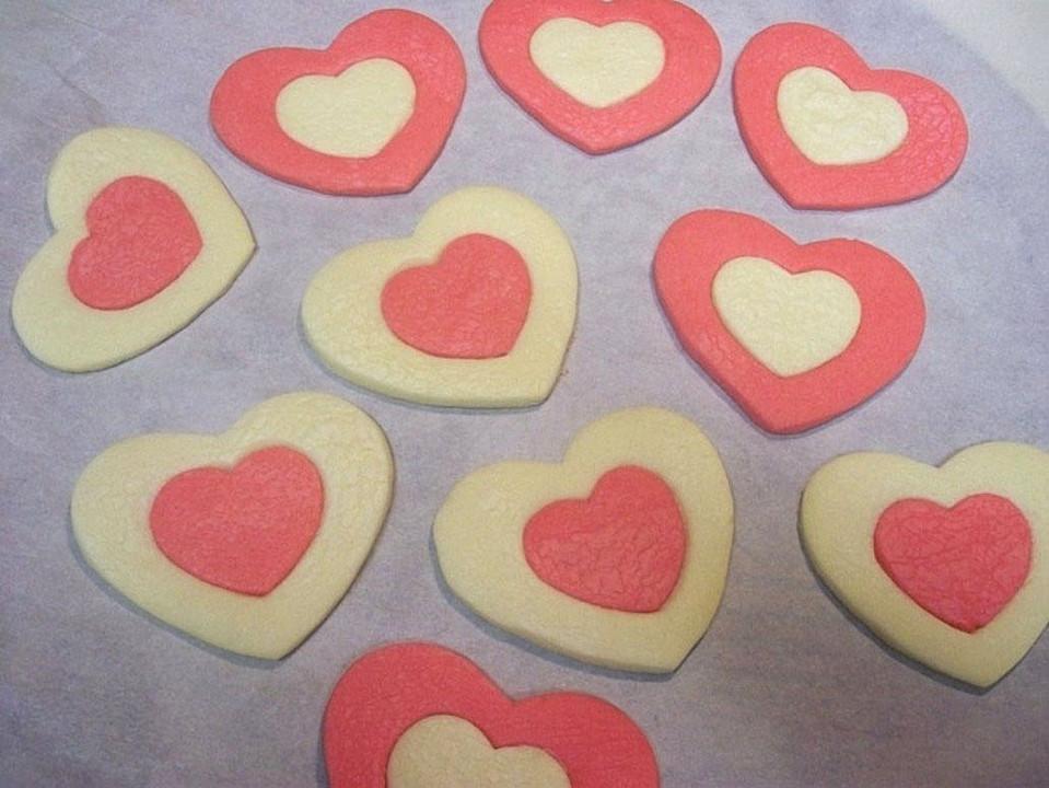 Valentinstag Herzkekse Von Nounou Chefkoch De