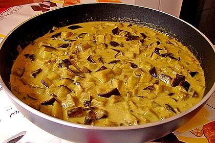 Schnelles Auberginen-Curry