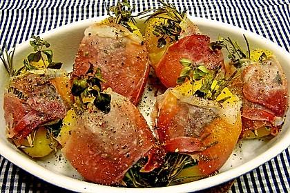 Kartoffeln mit Kräutern im Schinkenmantel 2
