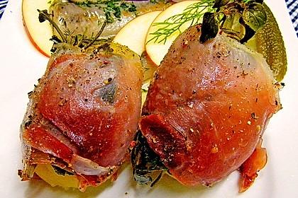 Kartoffeln mit Kräutern im Schinkenmantel 1