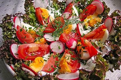 Bunte Kopfsalatnester mit Joghurt-Kräuterdressing 9