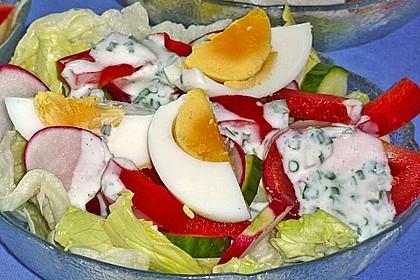 Bunte Kopfsalatnester mit Joghurt-Kräuterdressing 11