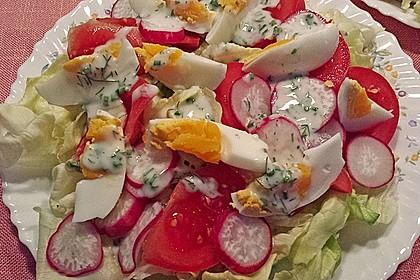 Bunte Kopfsalatnester mit Joghurt-Kräuterdressing 12