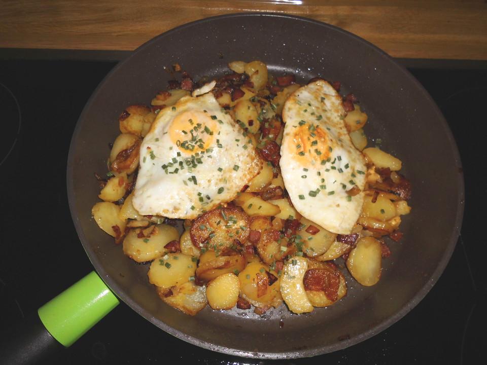 Salami Bratkartoffeln Von Vickybackt Chefkochde