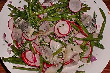 Bohnen-Matjes-Salat mit Kümmelkartoffeln