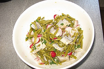 Bohnen-Matjes-Salat mit Kümmelkartoffeln 1