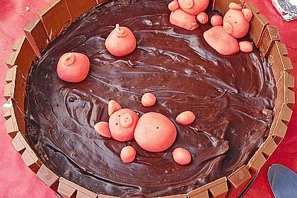 Philadelphia-Kuchen mit Schweinen im Schlamm 12