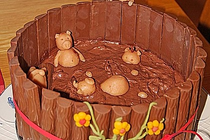 Philadelphia-Kuchen mit Schweinen im Schlamm 11