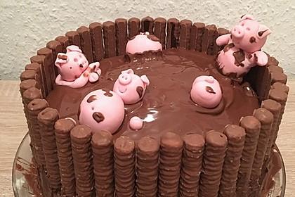 Philadelphia-Kuchen mit Schweinen im Schlamm 22
