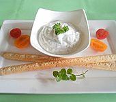 Ziegenfrischkäse-Knoblauchcreme (Bild)
