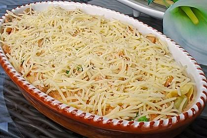 Überbackene Tortelloni in Tomaten-Champignon-Rahm 6