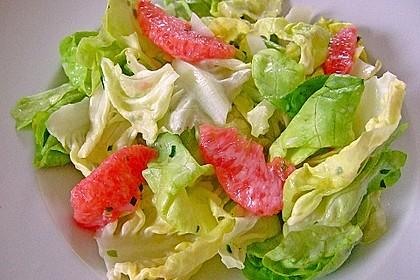 Blattsalate mit Grapefruit und Joghurt-Dressing 2