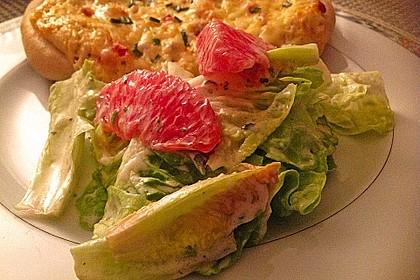 Blattsalate mit Grapefruit und Joghurt-Dressing 1