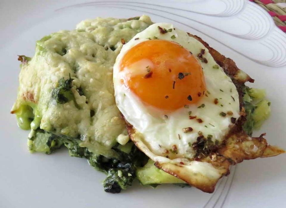 Leichte Sommerküche Vegetarisch : Vegetarisches leichtes kartoffel spinat gratin von souldream