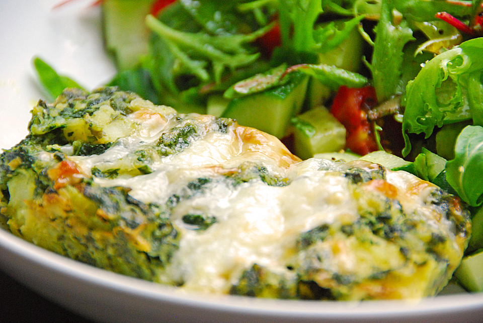 Vegetarische Sommerküche Rezepte : Vegetarisches leichtes kartoffel spinat gratin von souldream