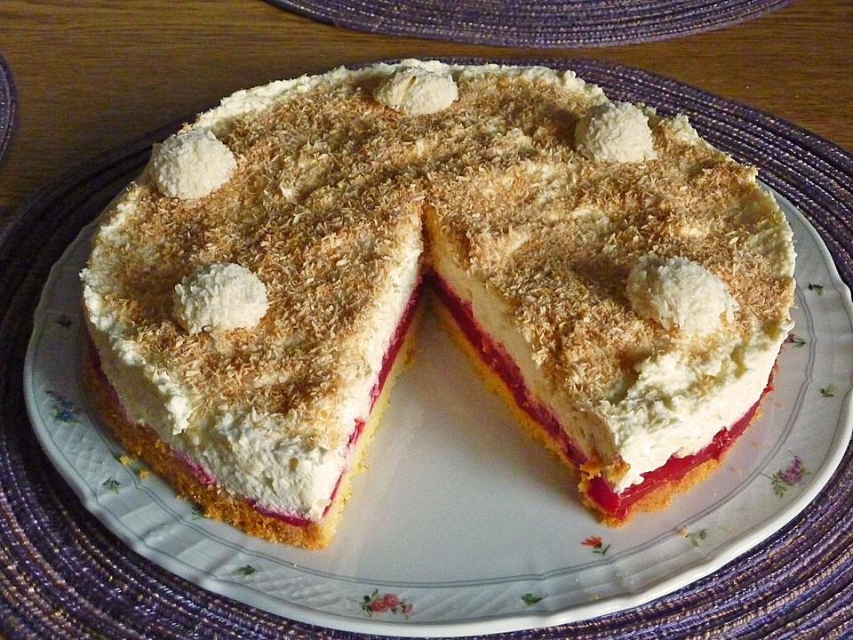 Raffaello torte rezept mit himbeeren