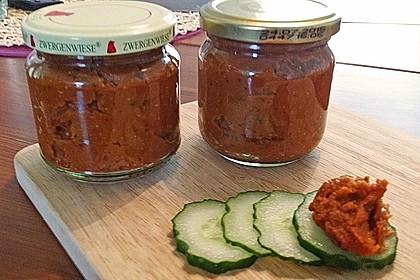 Veganer Linsen-Tomaten-Aufstrich 5