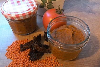 Veganer Linsen-Tomaten-Aufstrich 3